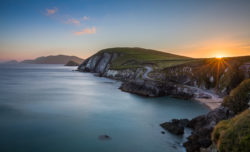 Coumeenole Beach at Slea Head at the tip of the Dingle Peninsula in County Kerry