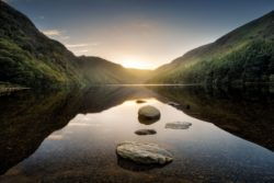 Upper lake, Glendalough, County Wicklow