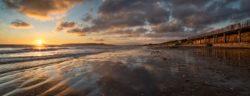 A warm sunrise at Portmarnock Beach, County Dublin