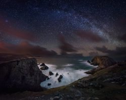 Port at night Co Donegal