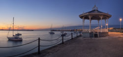 Dun Laoghaire pier band stand